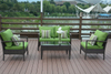 PAS-1516/new Design Outdoor Resting Area Rattan Sofa Set with Table