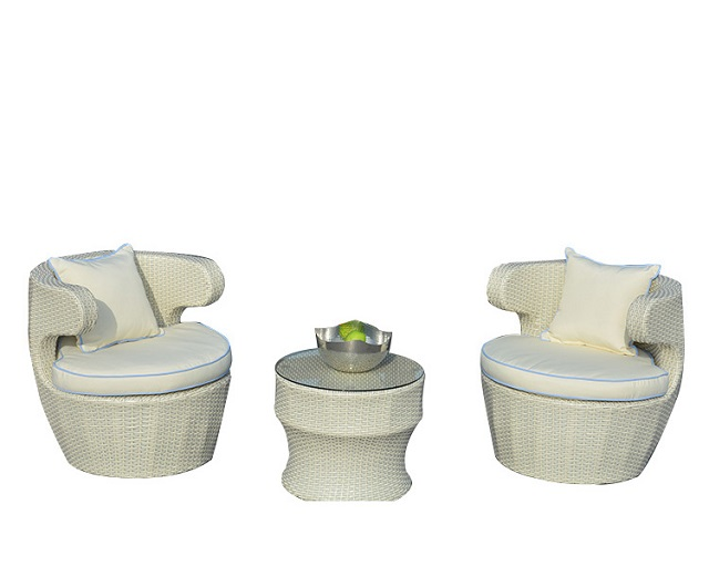 PAD-3313 /Modern Design Leisure Rattan Patio and Garden Dining Round Table and Chair Set