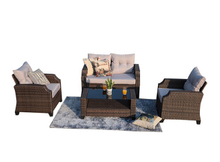 PAS-1651/4PC All Weather Outdoor Conversational Sofa Set