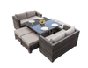 PAD-1120/New Space-saving Outdoor Patio Rattan Dinning Set