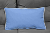 Cushion-8/Light Blue Rectangular Back Cushion