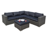 PAS-1312/Luxury L Shaped Popular Outdoor Wicker Sofa Set
