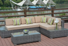 PAS-1106/3PC Unfoldable Outdoor Poly Rattan Deep Seating Sofa Set