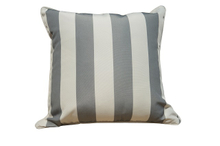 PC6/Grey and Beige Striped Scattered Square Pillow Case