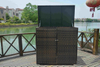PA-3027/Outdoor Garden Rattan Horizontal Garbage Shed