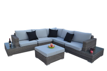 PAS-1226/6PCL L Shape Leisure Outdoor Furniture Rattan Sofa Set
