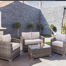 Simple 4 Pieces Cheap Patio Wicker Sofa Set