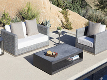 Modern Simple Aluminum Garden Wicker Sofa Set