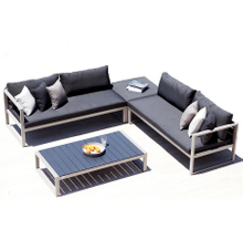 Metal Aluminium Hotel Outdoor Wicker Sofa Set