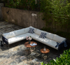 Knock Down Garden Aluminum Rope Corner Sofa Set with Two Coffee Table