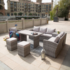 Wide Rattan Series Outdoor Patio Wicker Sofa Furniture with Storage Box